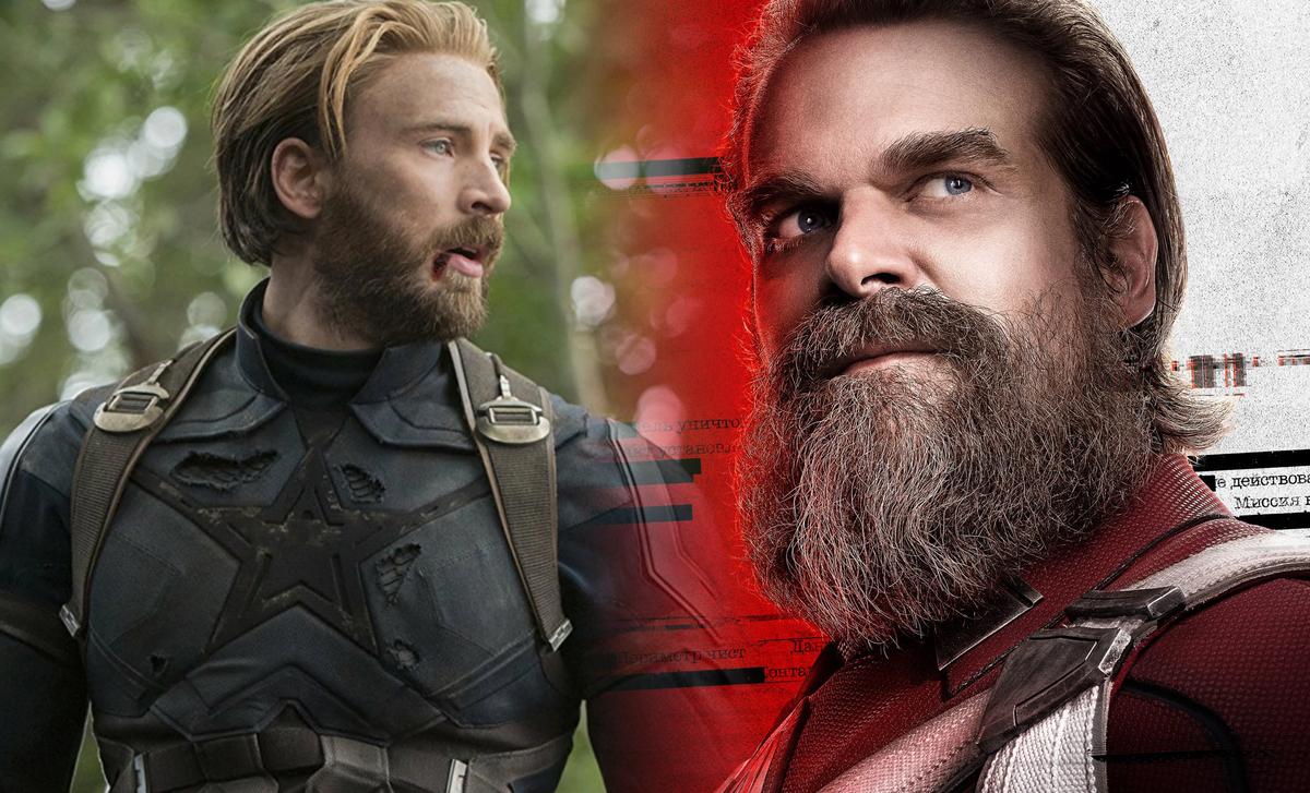 Дэвид Харбор мечтает о фильме, посвященном соперничеству между Капитаном Америкой и Красным Стражем
