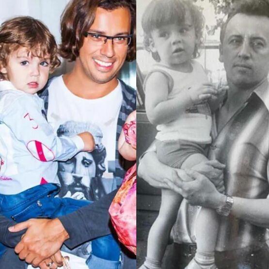 «Мальчики - копии»: Максим Галкин показал архивное фото с отцом